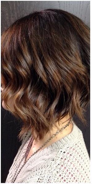 brunette highlights on short hair