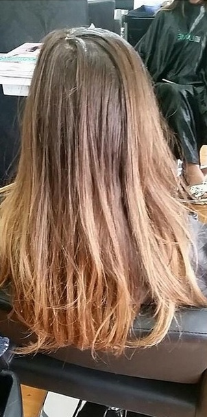before and after hair color pictures