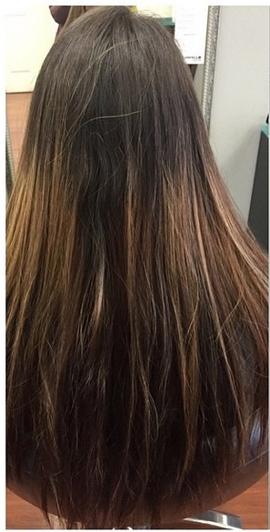 hair color and cut before and after