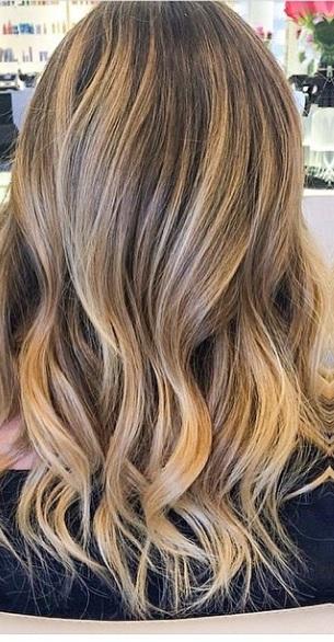 seamless blonde balayage highlights