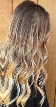 golden bronde highlights
