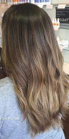 almond coffee brunette highlights