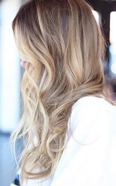 balayage blonde highlights