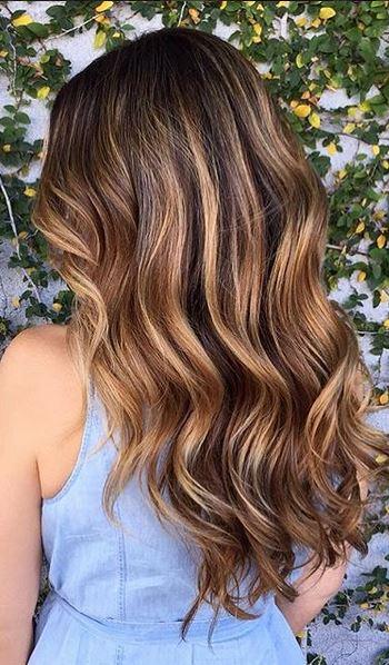 beautiful beachy brunette highlights
