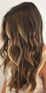 low maintenance sunkissed brunette highlights