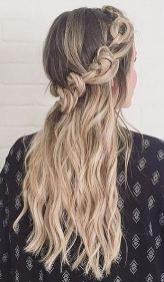 festival hairstyle or bridal hairstyle