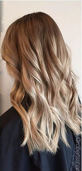 hair color idea - darker blonde with highlights