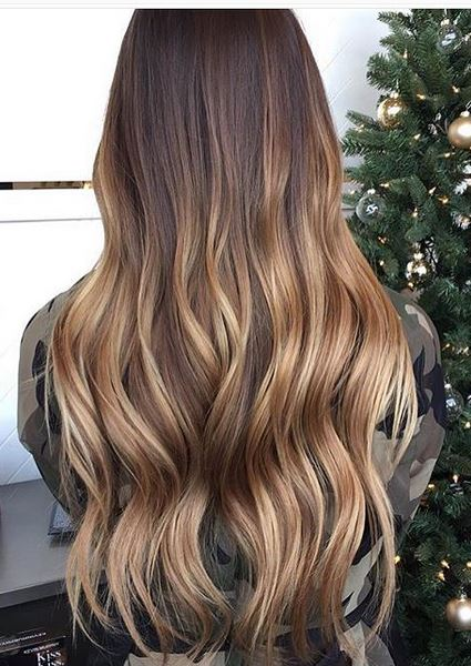 sombre or bronde balayage hair