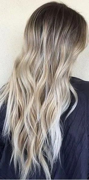 perfect blonde blend via balayage highlights