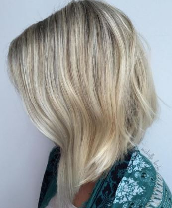 long blonde bob hairstyle
