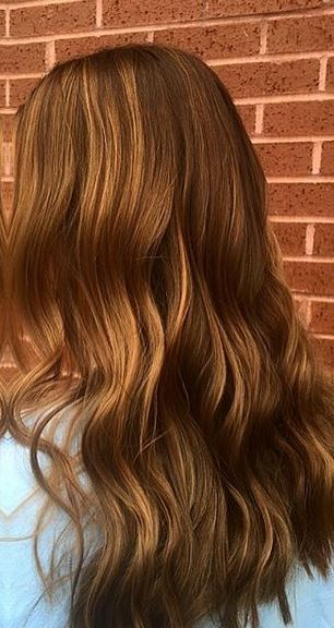 warm caramel red hair color