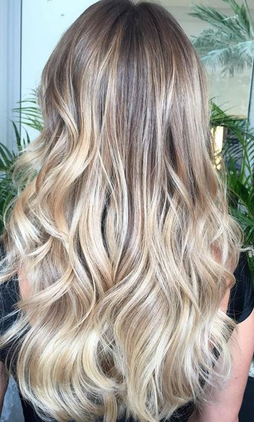 bronde ombre highlights