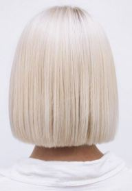 flawless platinum blonde bob