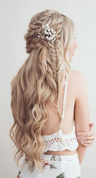 wedding updo braided hairstyle
