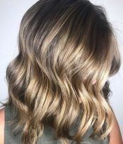 shiny bronde hair color