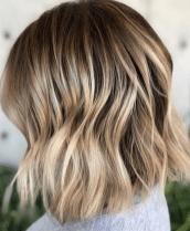 bronde balayage short hair