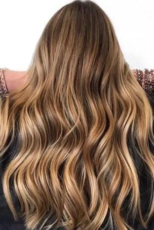 golden highlights on darker hair