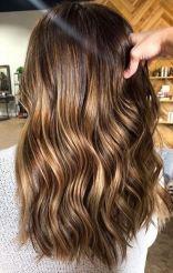 superfine shiny brunette highlights