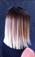blunt cut and ombre color