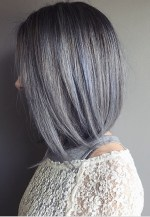 silver blue gray hair