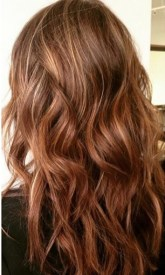 warm brunette with highlights
