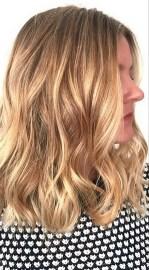 shimmering honey blonde highlights