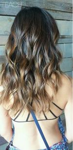 sunkissed brunette hair color
