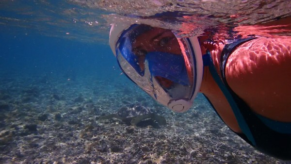 Matériel snorkeling masque intégral Easybreath - Bali