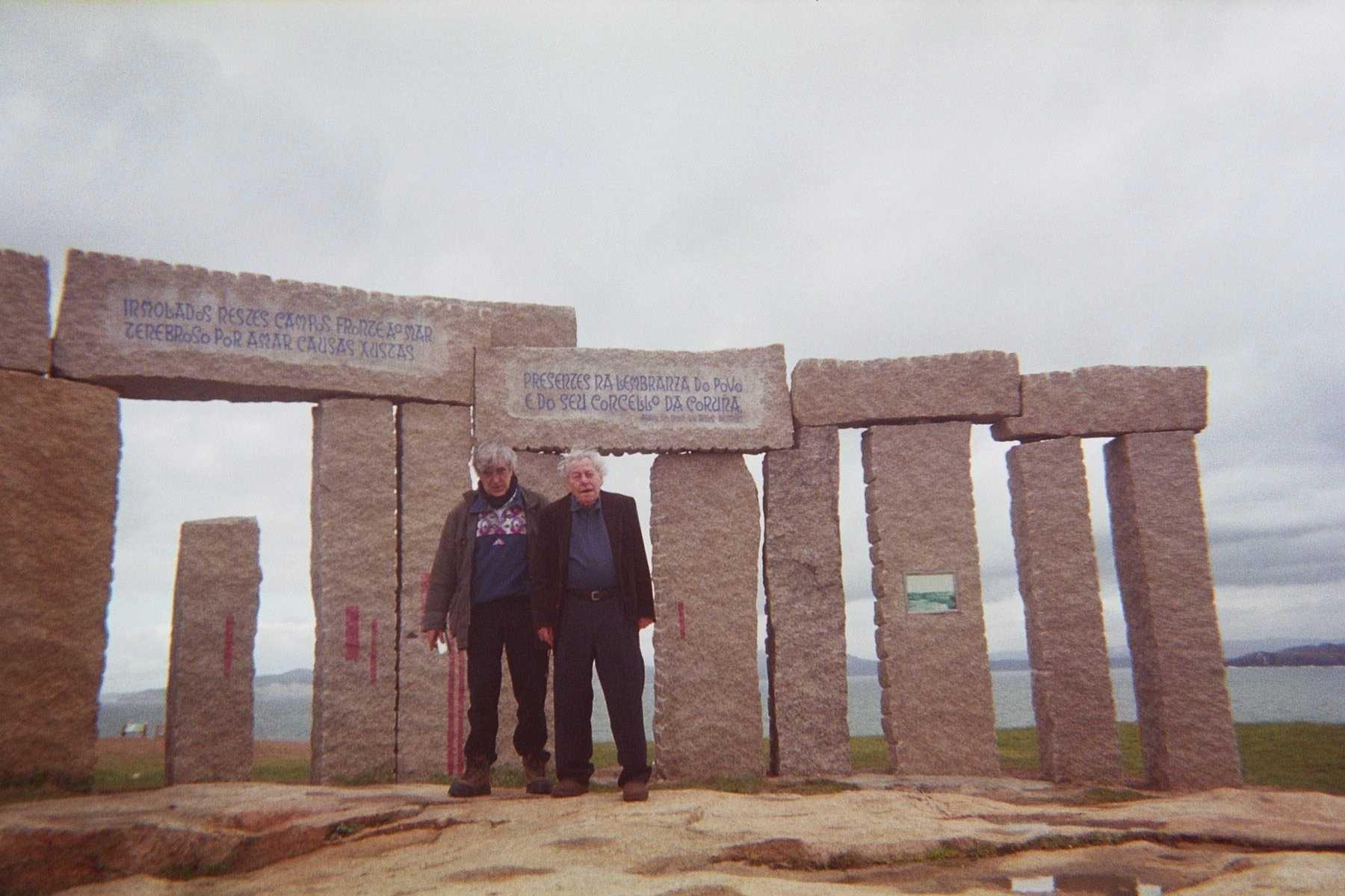 Abel Paz i Manel Aisa a La Coruña gener de 2005