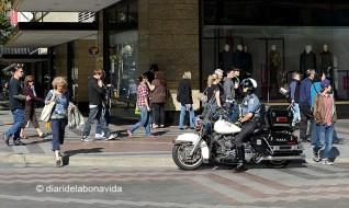 La presència de policies al centre de la ciutat és sempre visible