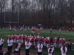Foran Football team works on Thanksgiving