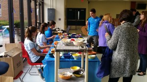 Students gather Friday night to support the Beth-El shelter