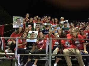 over 100 students came out last week to support the Lions