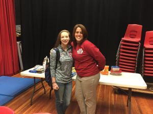 Mrs. Ganun and Sophomore Emma Longley at the Blood Drive earlier this week