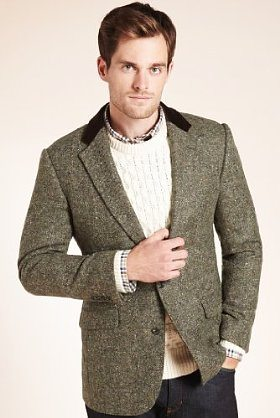 M&S | Sartorial Pure Wool Donegal Worsted Jacket | £199