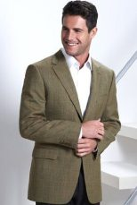 M&S | Sartorial Slim Fit Pure Wool 2 Button Heringbone Check Jacket | £99