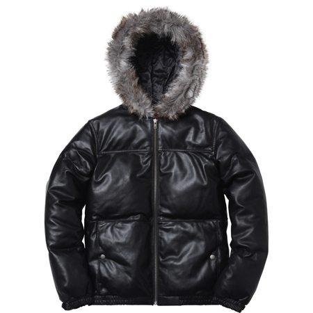 Supreme | Leather Down Jacket | Black
