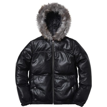 Supreme | Leather Down Jacket | Black