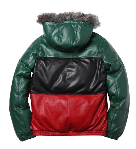 Supreme | Leather Down Jacket | Back