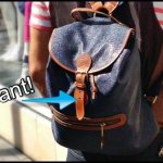 Street Style | Mulberry Scotchgrain Leather Backpack
