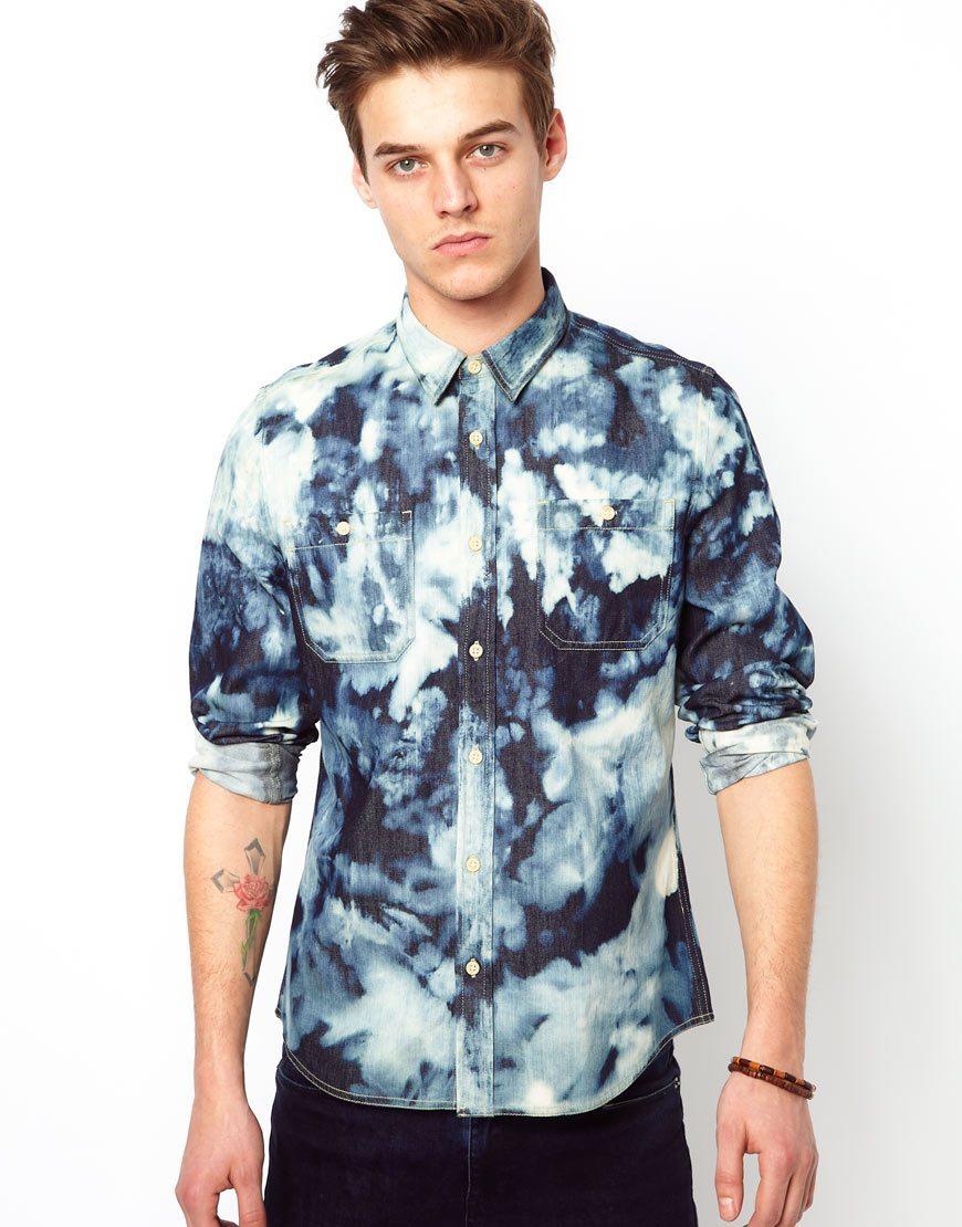 ASOS-Denim-Shirt-Tie-Dye