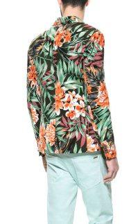 Zara-Floral-Blazer-Khaki-Back