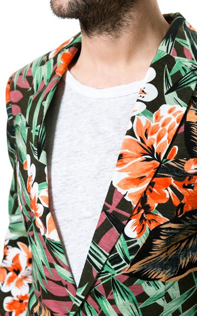 Zara-Floral-Blazer-Khaki-Close