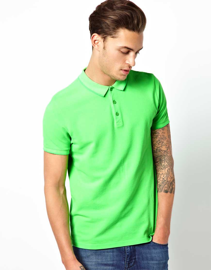 ASOS-Neon-Green-Polo-Shirt