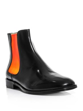 Christopher-Kane-Chelsea-Boot-Black-Orange-Neon