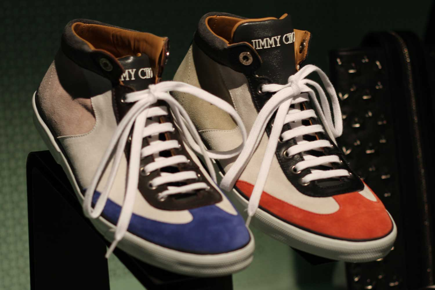 Jimmy-Choo-LCM-SS14-Presentation-Blue-Orange-High-Tops