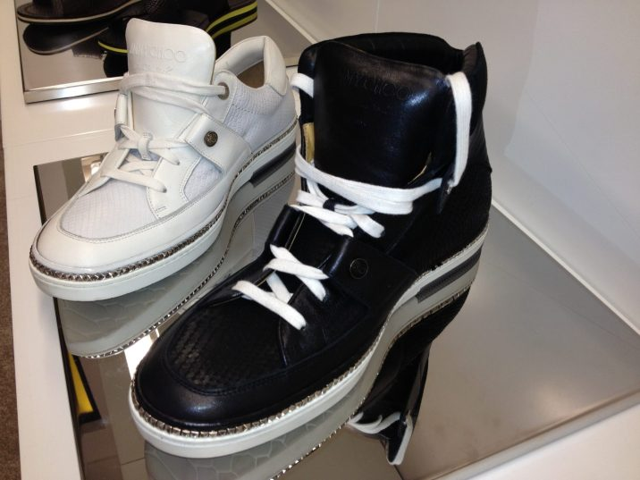 Jimmy-Choo-Mens-Cruise-2014-Portman-Belgravia-Black-White-Sneaker-High-Top