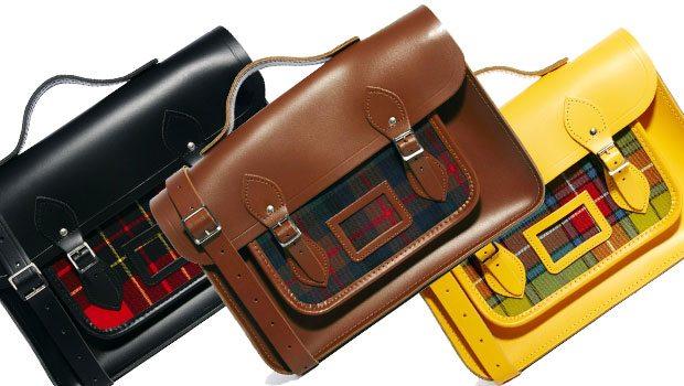Mens-Bag-The-Cambridge-Satchel-Company_Leather_Brown_Black_Yellow_Tartan_15_13_Inch