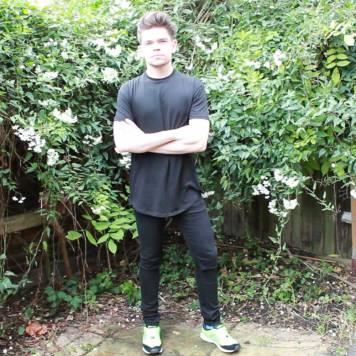 Black-New-Look-Zip-Longline-T-shirt