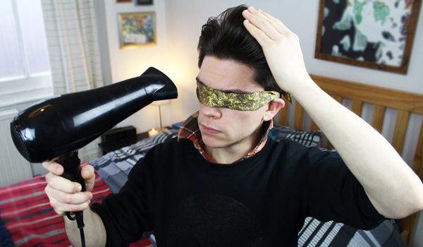 Blindfolded Quiff Challenge